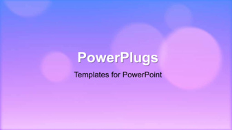 PowerPoint Template - An abstract bokeh background